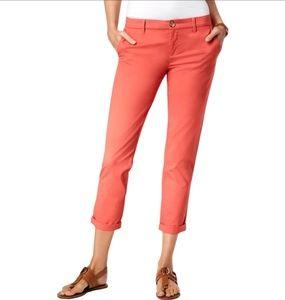 Coral Tommy Hilfiger Slim Ankle Pants Sz.12